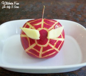 Spider Man Apple Snack