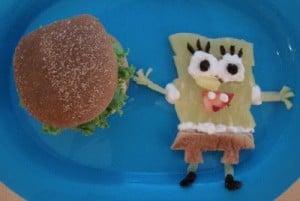 Daddy Krabby Patties with a side of Sponge Bob!
