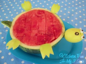 OH NO!  The Turtle Turned Over Watermelon!