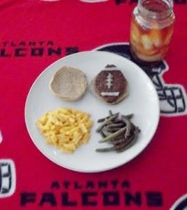 Football Burger Dinner!