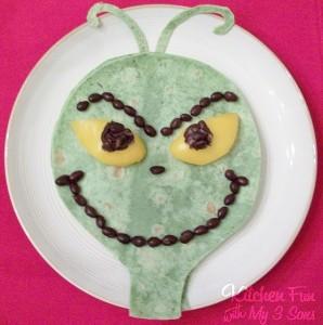 The Grinch Quesadilla Christmas Dinner