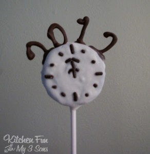 New Year's Midnight Oreo Pops!