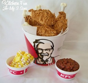 KFC Fried Chicken Bucket and Sides…APRIL FOOLS!
