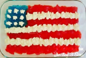 Sugar Free Flag Jello Dessert for July 4th!