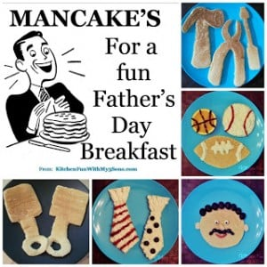 Our 2012 Mancakes for Father's Day Breakfast!