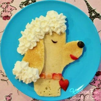 Poodle Pancakes For Kids