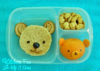 Easy Apple & Bear Bento School Lunches AND Easy Lunchboxes Giveaway!