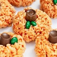 Rice Krispie Pumpkin Surprise Treats