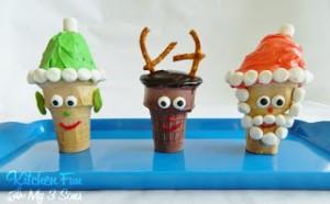 Santa, Rudolph, & Elf Christmas Cupcake Cones