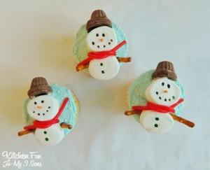 Christmas Snowman Cupcakes…easy!