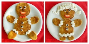 Gingerbread Boy & Girl Pancakes