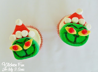 Grinch Marshmallow Cupcake Toppers Super Easy Kitchen