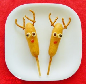 Rudolph the Red Nose Corn Dog!