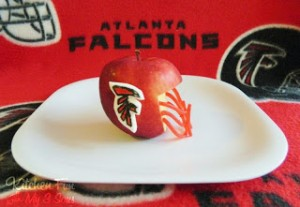 Atlanta Falcons Apple Football Snack