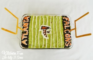 Atlanta Falcons 7 Layer Football Dip