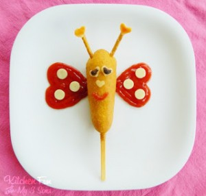 Valentine Butterfly Corn Dog