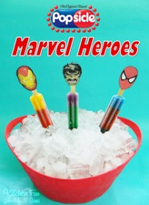 Popsicle Marvel Heroes with free Printable & Target Gift Card GIVEAWAY!!