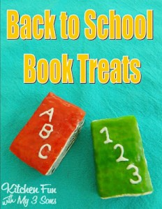 Back to School Rice Krispie Book Treats