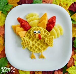 Turkey Breakfast …Gobble Gobble up some Waffles!