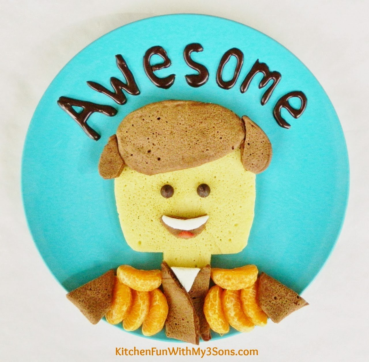20 Amazing Ideas That Will Make Your House Awesome: Awesome Lego Movie Pancakes For Breakfast