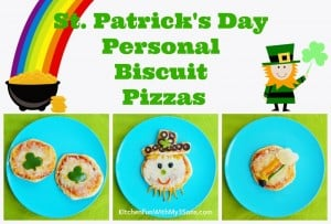 St. Patrick's Day Personal Biscuit Pizza