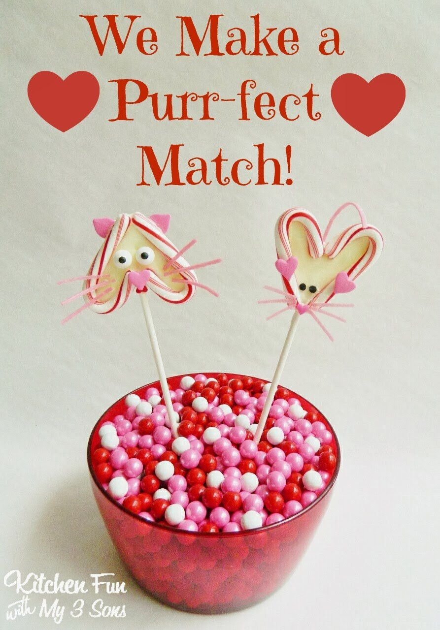 Catnip Toys For Valentine S Day : Valentine s day chocolate candy cat mouse heart pops