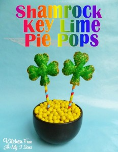St. Patrick's Day Shamrock Key Lime Pie Pops