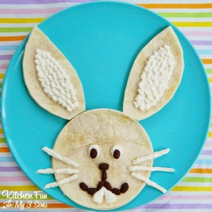 Easter Bunny Quesadilla Dinner