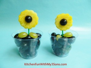 Easy Fruit Sun Flower Snack for Mother's Day!
