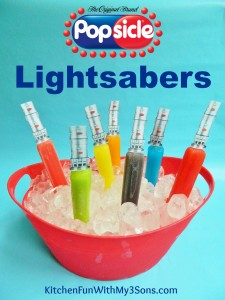 Popsicle Lightsabers with a FREE Printable and a Popsicle Giveaway!