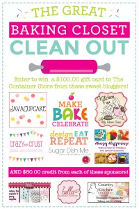 The Great Baking Closet Clean Out including a $100 Giveaway to the Container Store!
