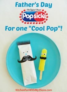 Father's Day Popsicle's with a One Cool Pop Mustache Free Printable!