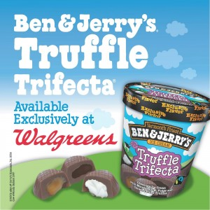 Ben & Jerry's Truffle Trifecta with a Walgreens $50 Gift Card GIVEAWAY!