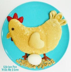 Chicken Pancakes for Breakfast…Bock Bock!