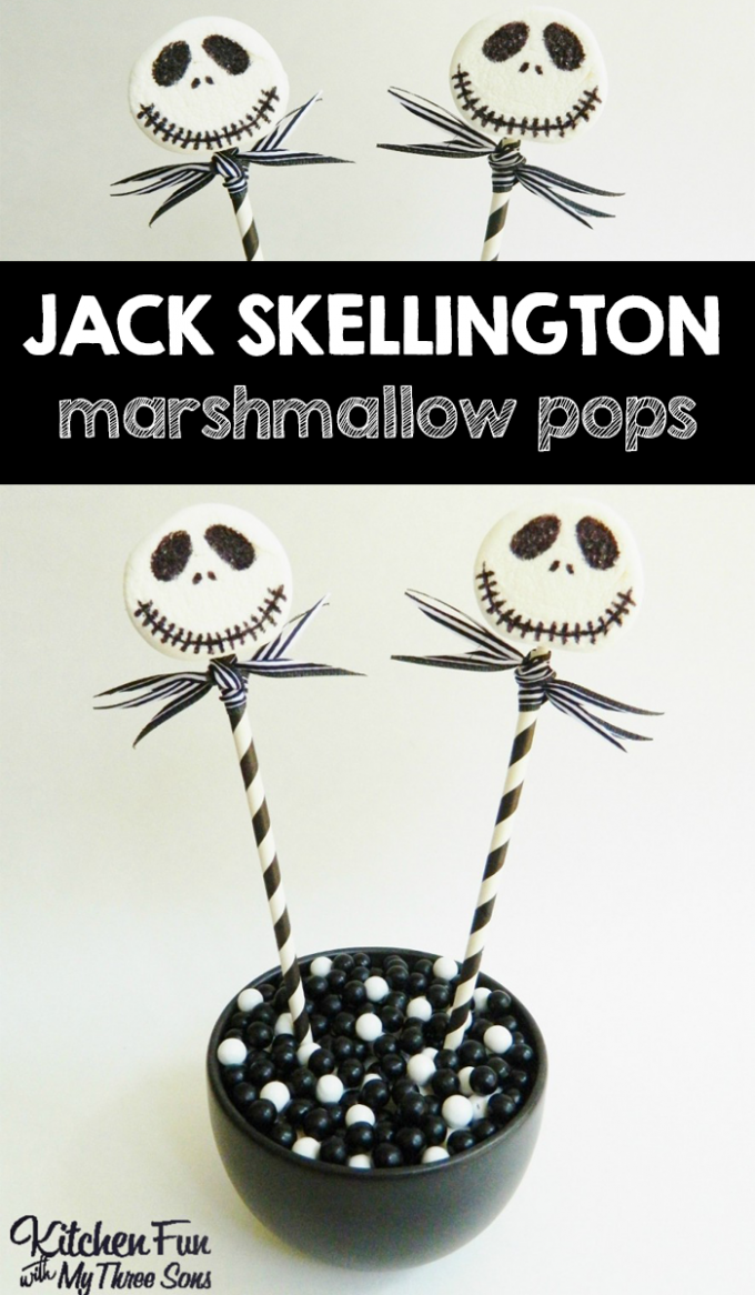 Nightmare Before Christmas Jack Skellington Marshmallow Pops
