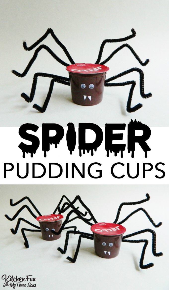 Halloween Spider JELL-O Pudding Cups