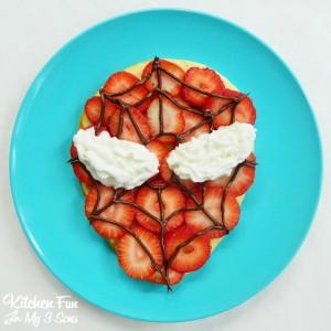 Spider Man Pancakes for Breakfast