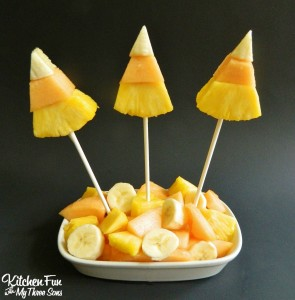 Halloween Candy Corn Fruit Pops