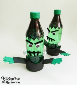Halloween Frankenstein Sprite Bottle Craft