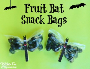 Halloween Fruit Bat Snack Bags
