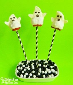 Halloween Strawberry Ghost Pops