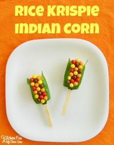 Thanksgiving Indian Corn Rice Krispies Treats