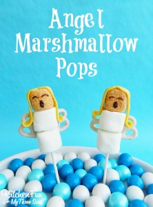 Christmas Angel Marshmallow Pops