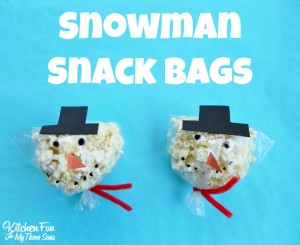 Christmas Snowman Snack Bags for Class Parties at School!
