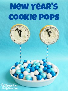 New Year's Cookie Clock Pops