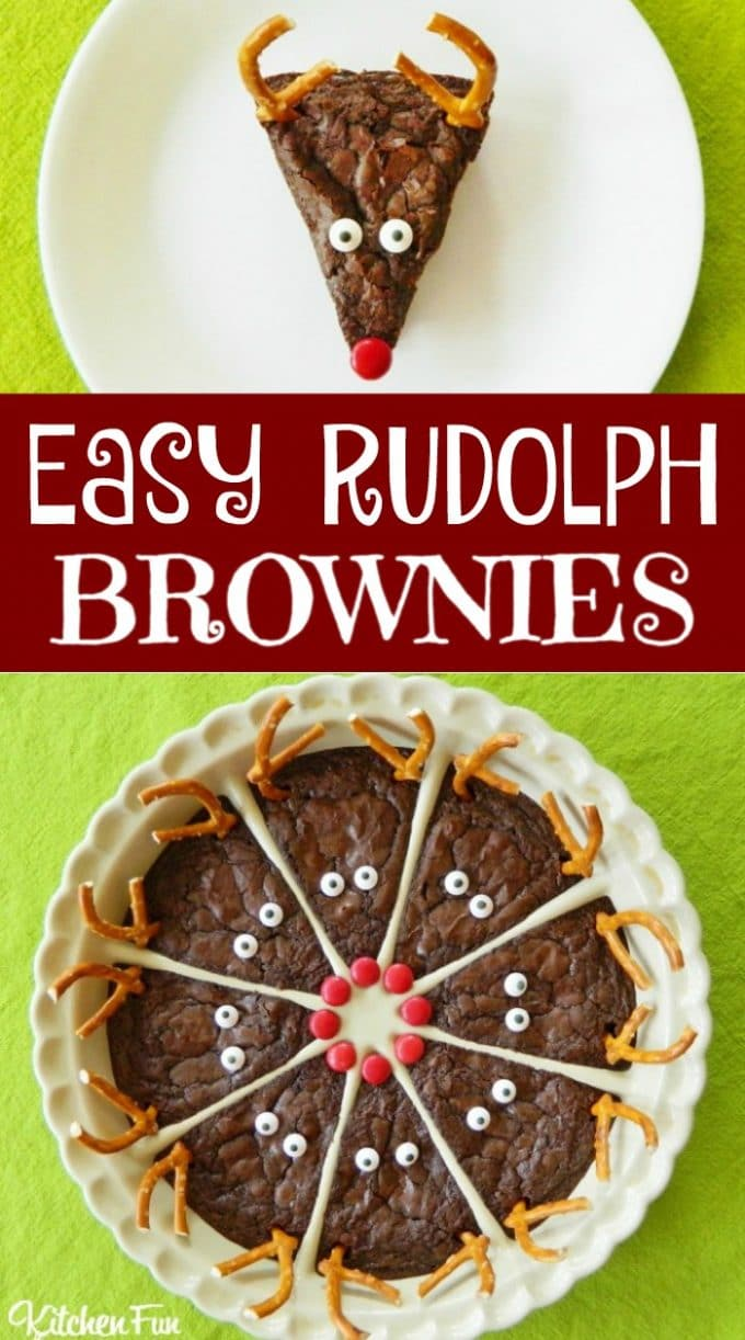 Easy Rudolph Brownies