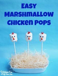 Easy Marshmallow Chicken Pops