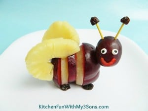 Spring Bumble Bee Fruit Snack