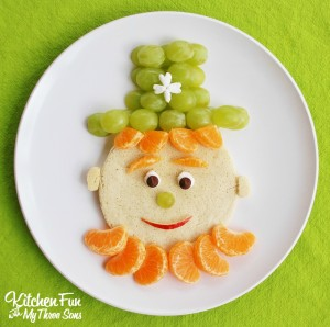 St. Patrick's Day Leprechaun Pancakes for Breakfast