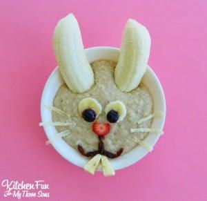 Easter Bunny Oatmeal Breakfast
